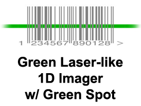 1D laser with green spot